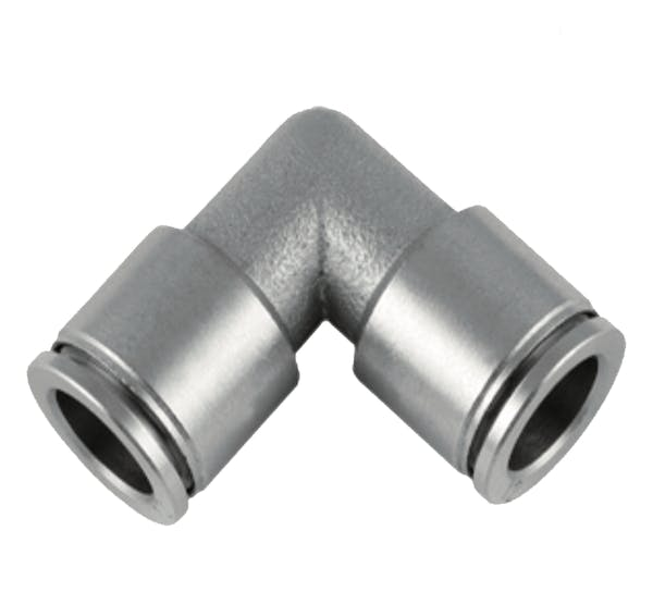 XH Notion nickel plated union elbow push in fitting