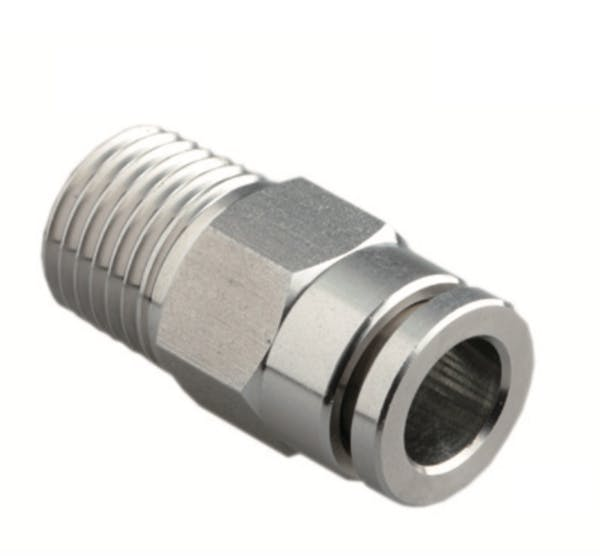 Stainless steel male straight push in fitting