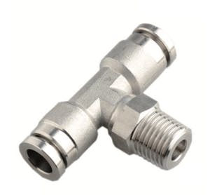 Stainless steel male tee push in fitting