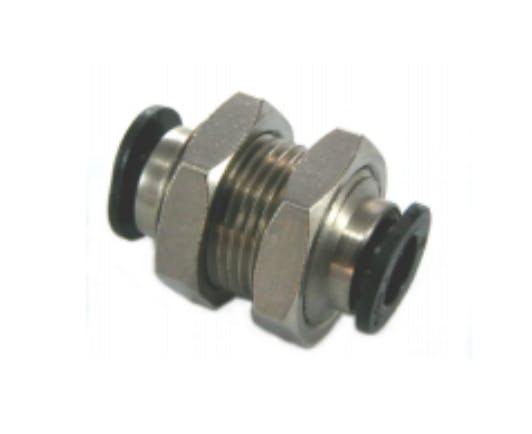 Composite Compact Equal Union Bulkhead Push-In Fitting