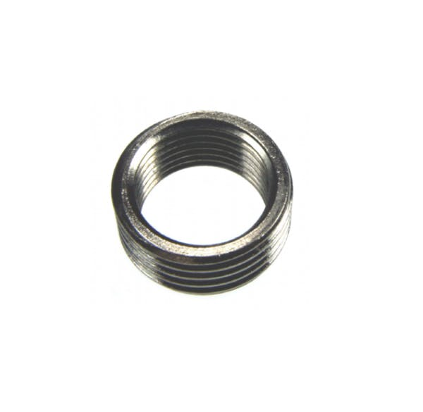 Nickel plated ring style reducing bush pipe fitting
