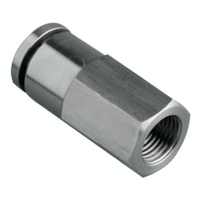 Stainless steel female straight push in fitting