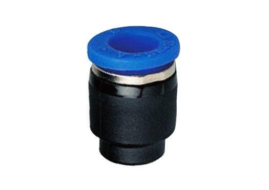 composite straight push in fitting cap