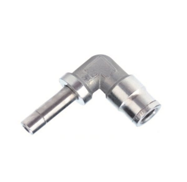 nickel plated elbow plug in push in fitting