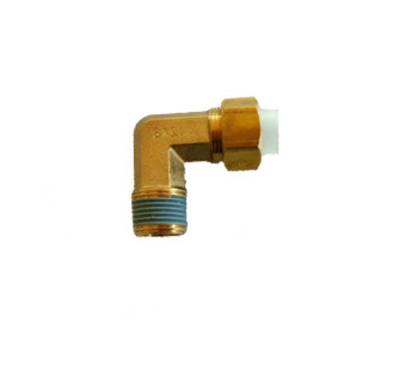 nickel plated insert fitting male tube elbow pipe fitting