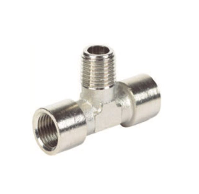 nickel plated male female tee pipe fitting
