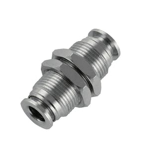 nickel plated union bulkhead push in fitting
