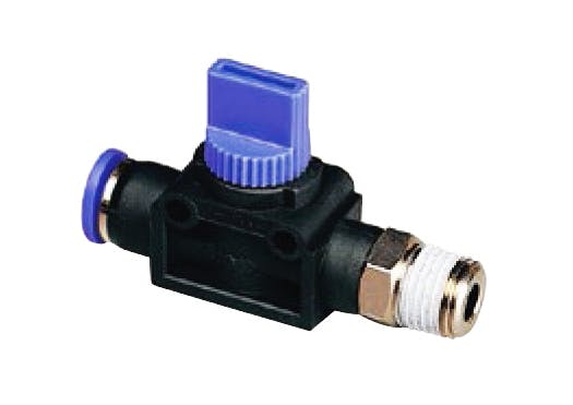 shut off valve straight male tube air out functional fitting