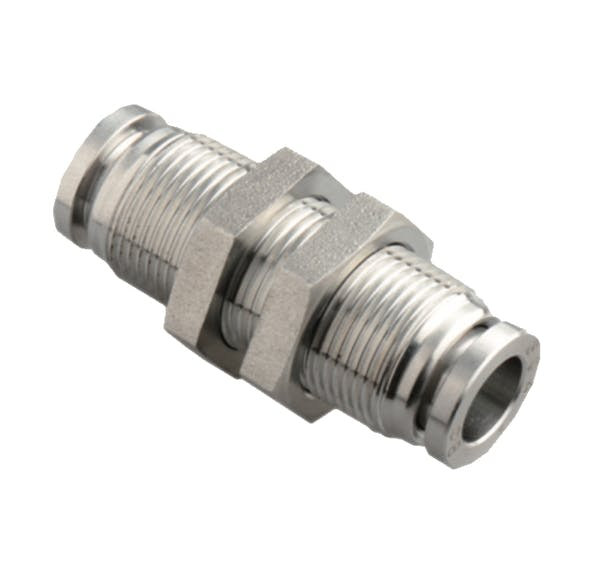 stainless steel union bulkhead push in fitting